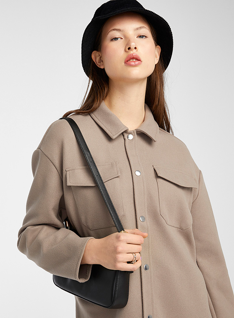 Wool-like overshirt