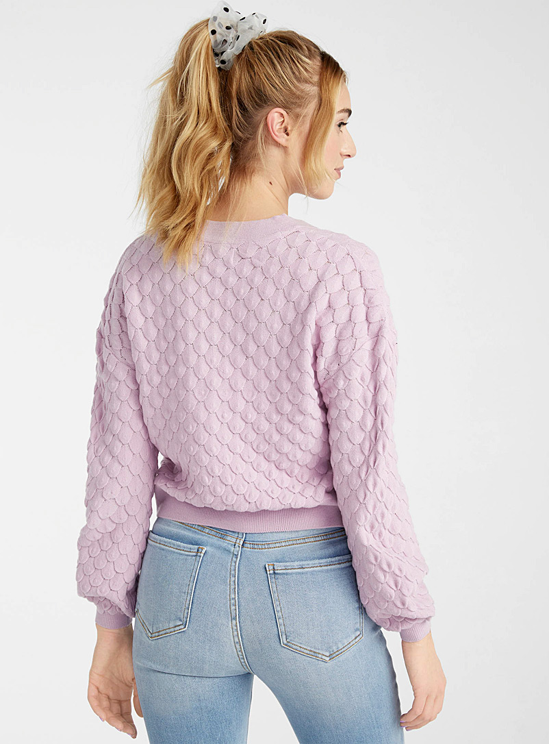 Only Dusky Pink Scales knit cardigan for women