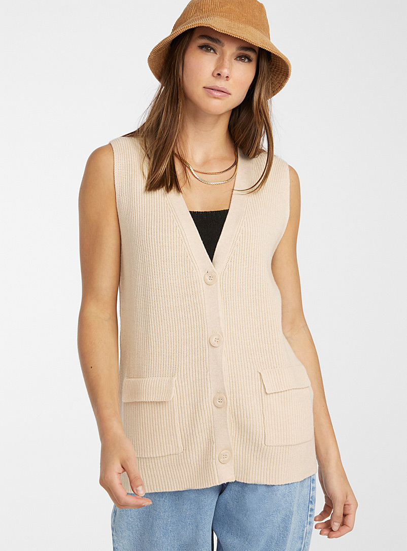 Only Light Grey Eco-friendly viscose ribbed loose tank for women