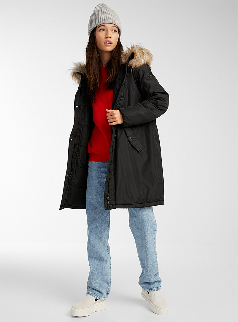 Only Mossy Green Misty hooded parka for women