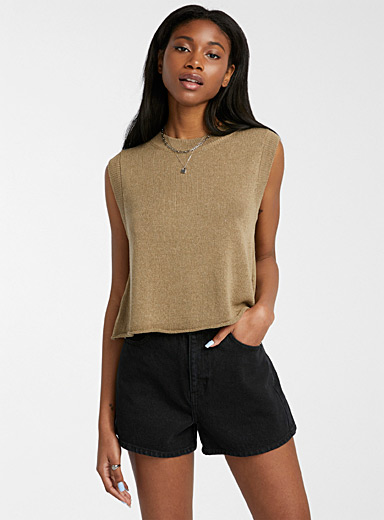 Touch of linen knit cami
