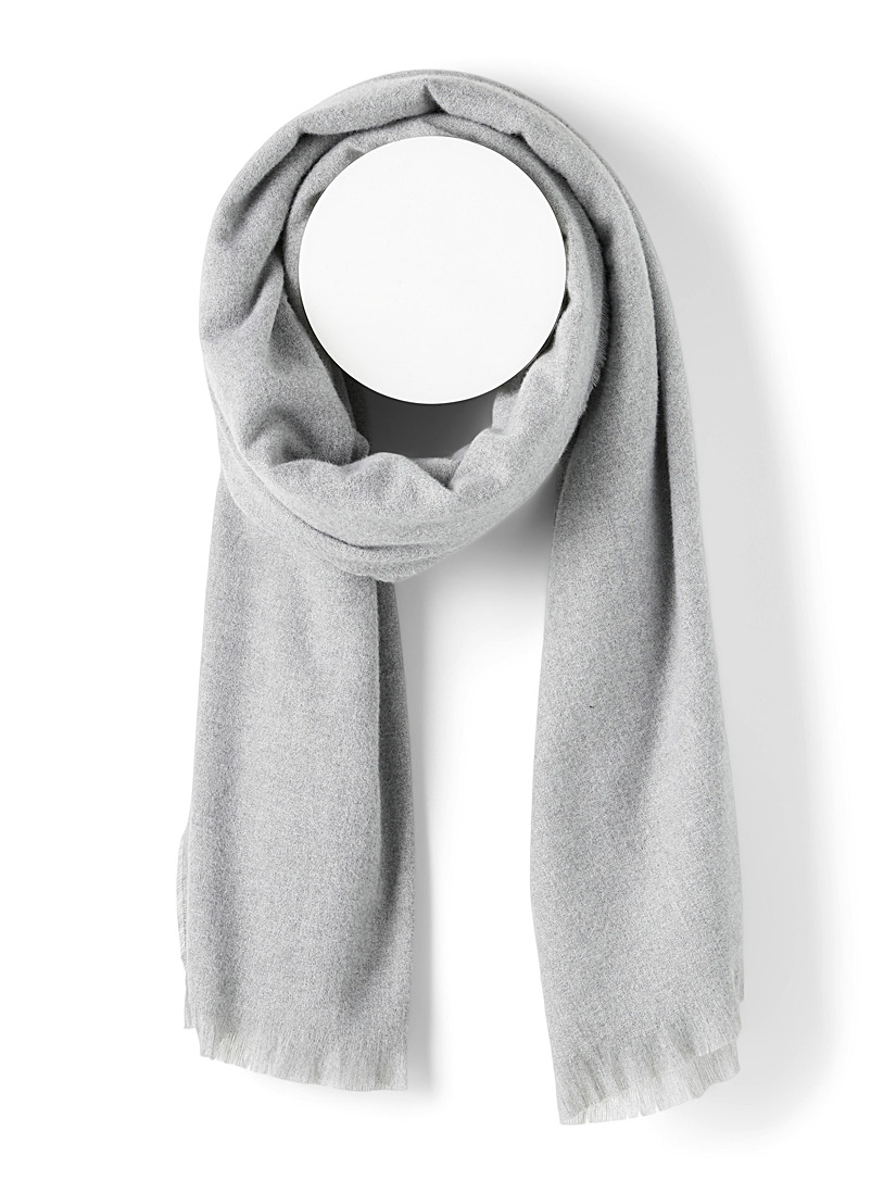 Only Light Grey Essential solid scarf for women