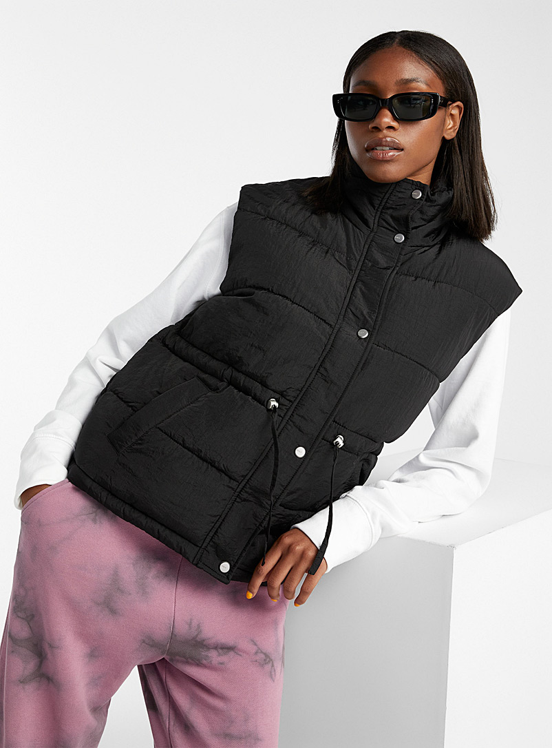 Only Black Sydney quilted puffer vest for women