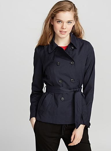 Lucy cropped trench coat