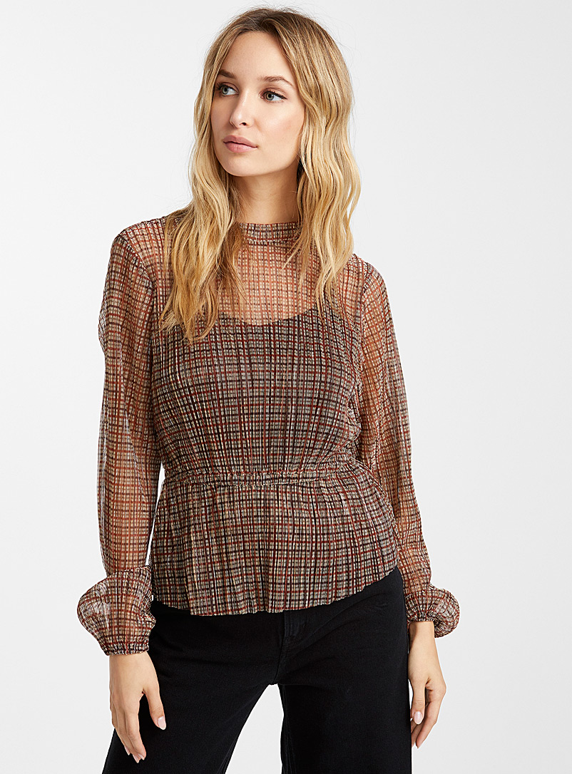metallic-check-blouse