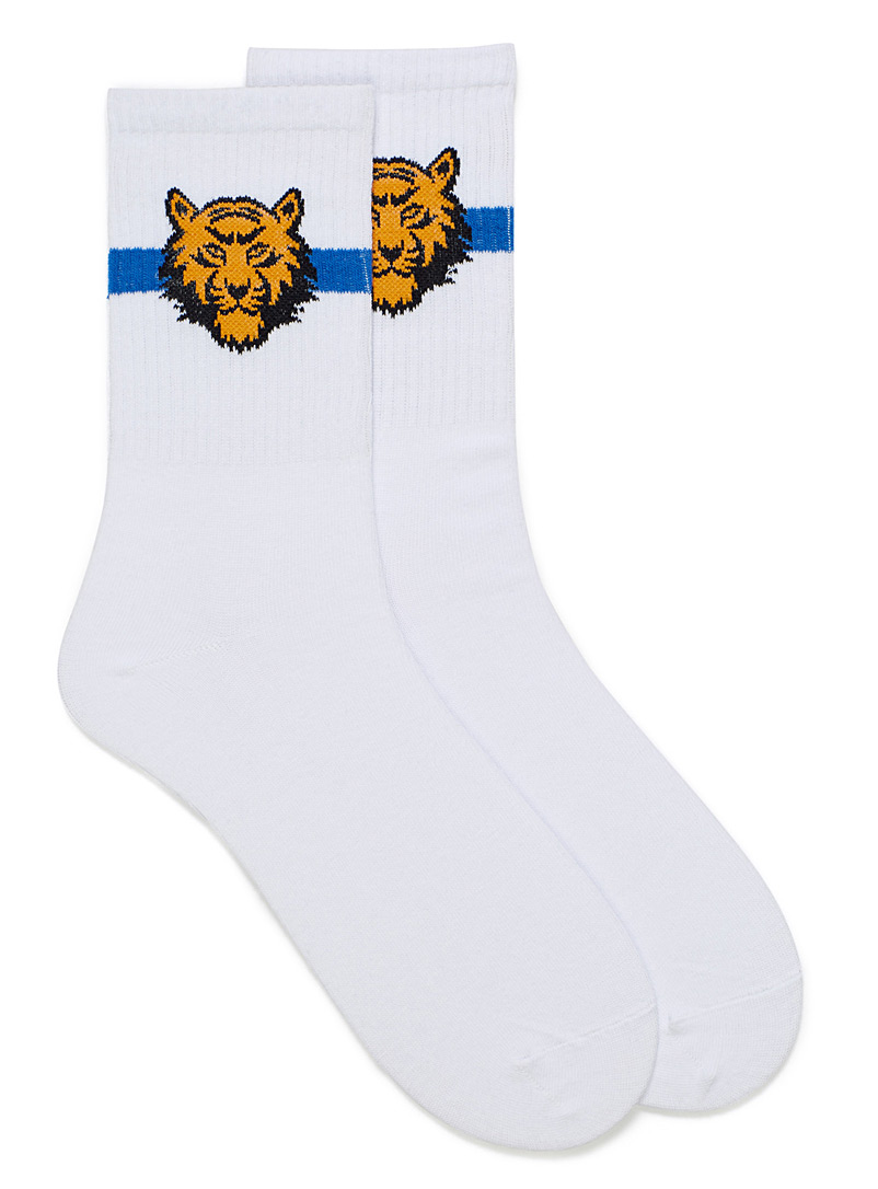 Animal head tennis socks - Casual socks - Golden Yellow