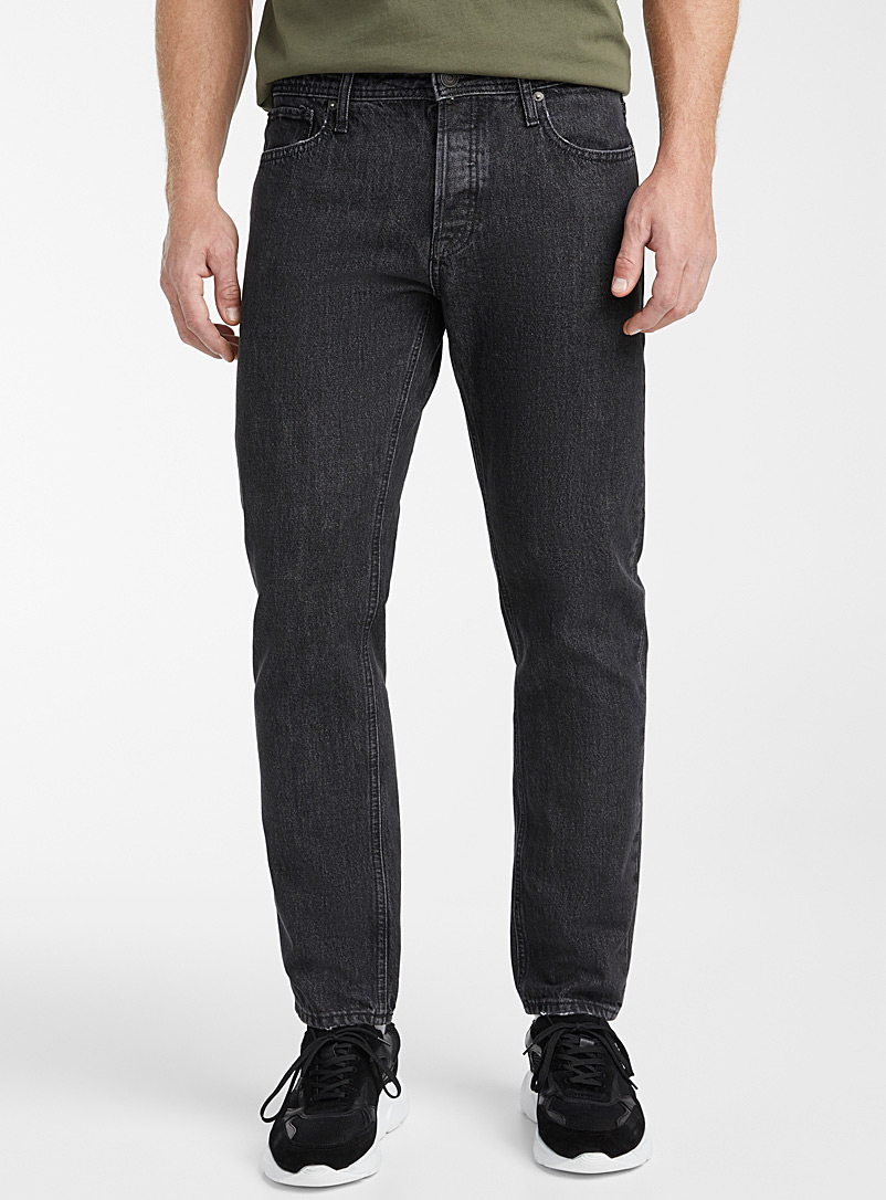 Jack & Jones Black Mike faded black jean  Straight fit for men