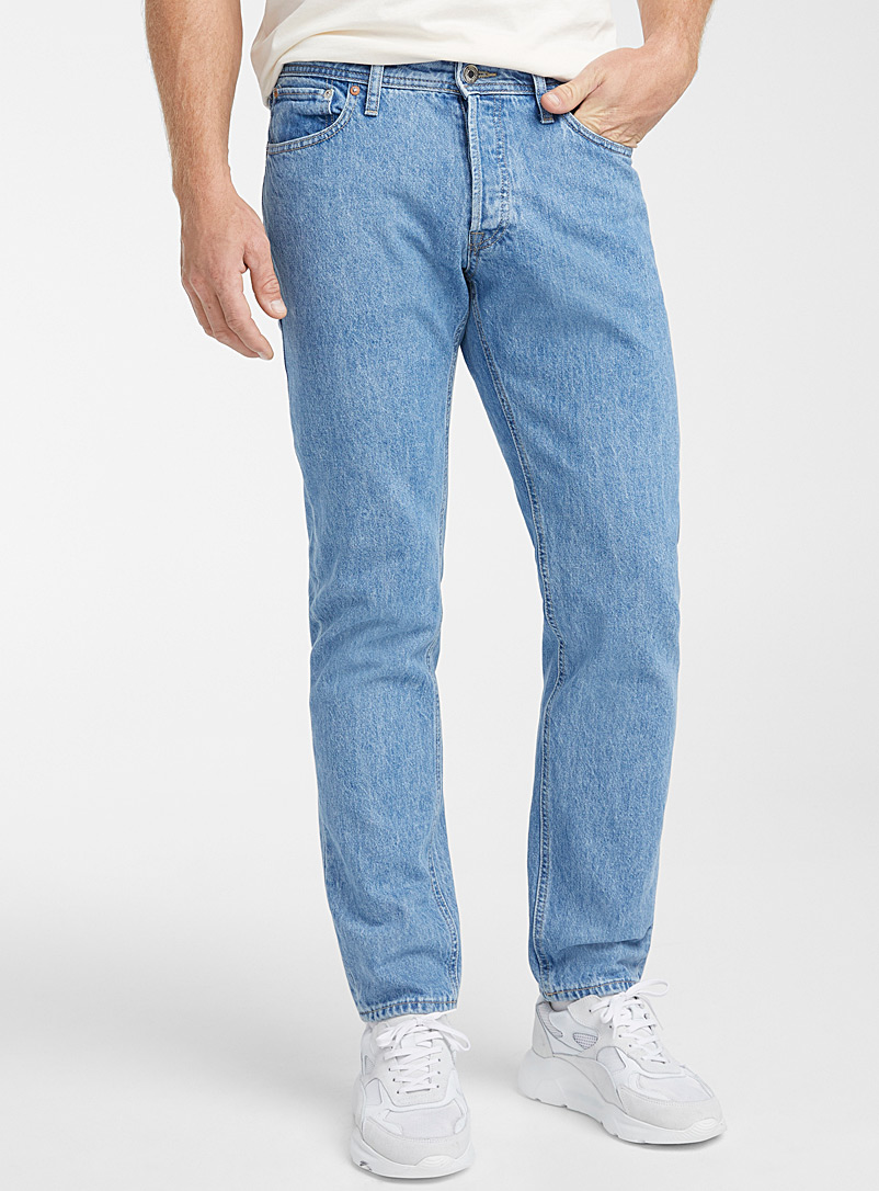 Jack & Jones Blue Mike faded blue jean  Straight fit for men