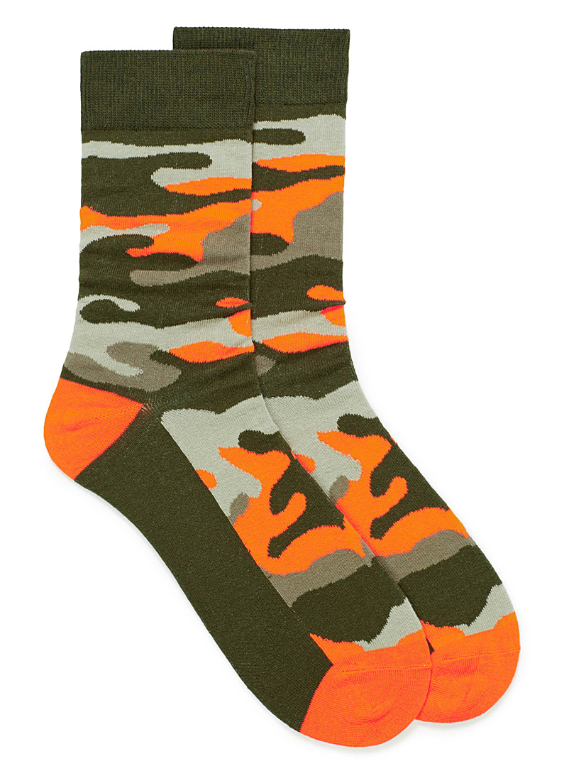 Camo socks - Casual socks - Patterned Green