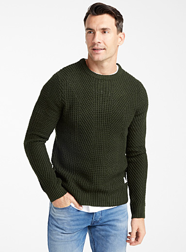 Graphic ribbed sweater