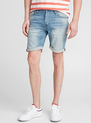 Faded jogg-jean short