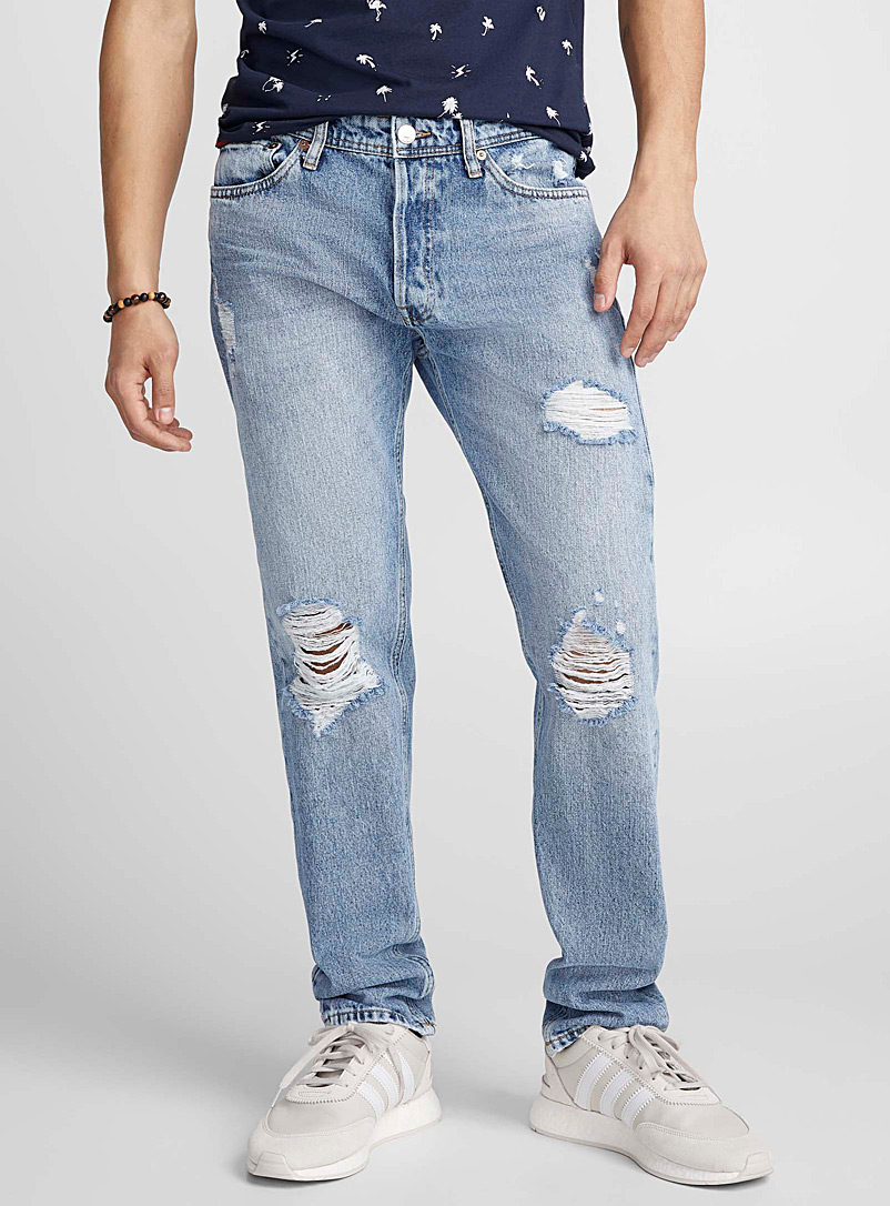 Distressed bleached jean   - New Proportions - Blue
