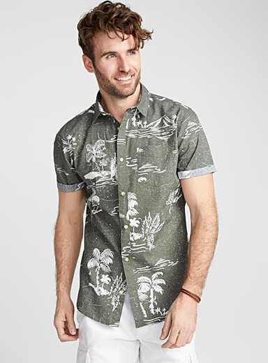 Hawaii island shirt <br>Regular fit