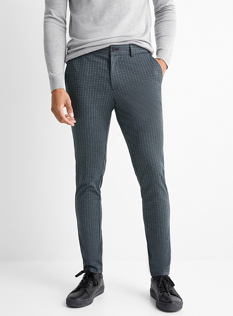 Mini-houndstooth pant  Slim fit