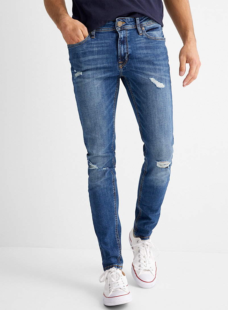 Jack & Jones Blue Liam faded jean  Skinny fit for men