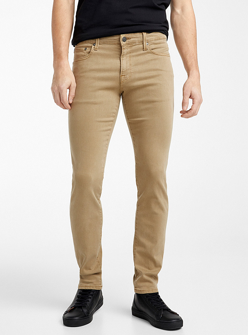 Jack & Jones Light Brown 5-pocket velvety pant  Slim fit for men