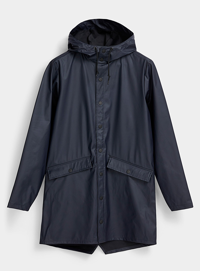 Jack & Jones Marine Blue Matte finish raincoat for men