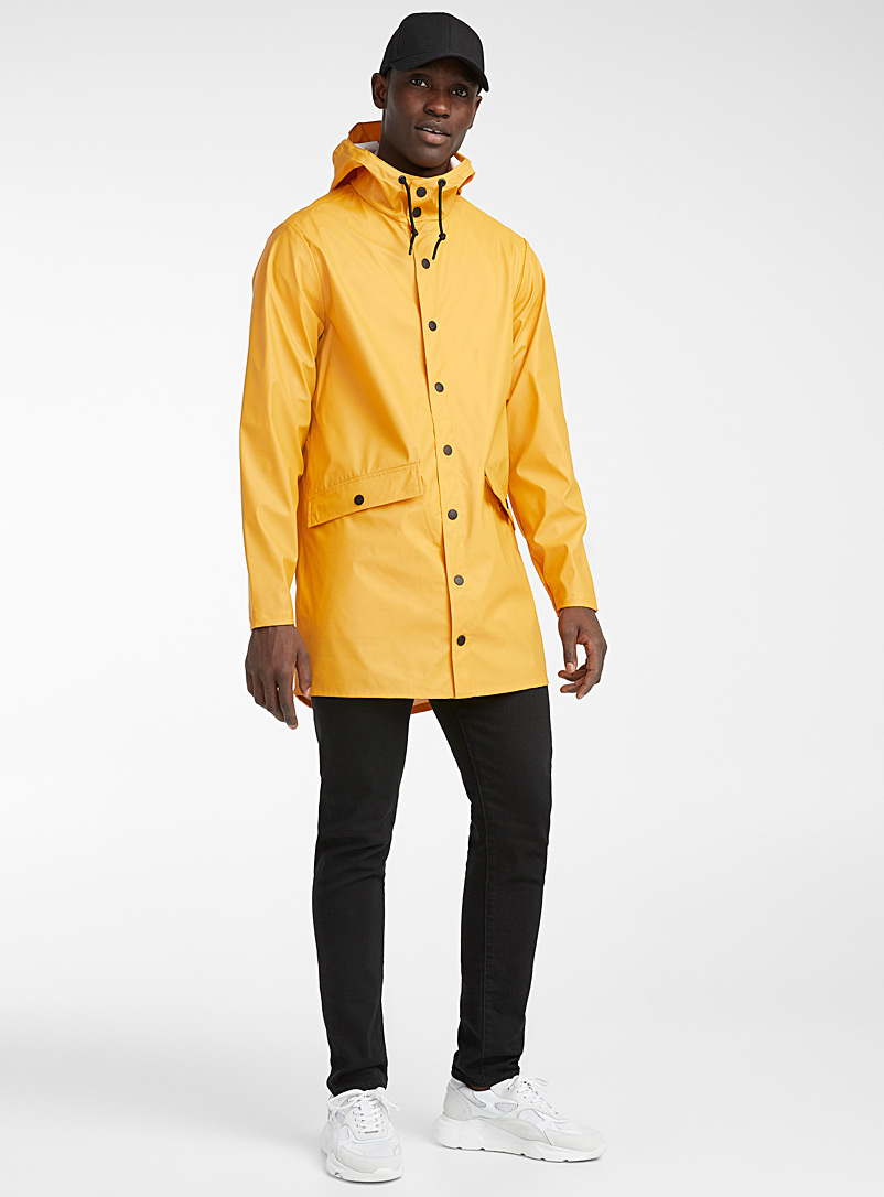 Jack & Jones Bright Yellow Matte finish raincoat for men