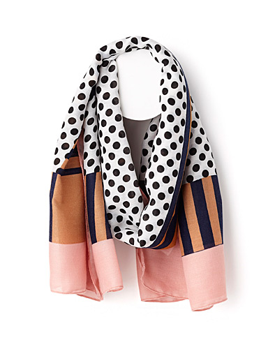 Stripes and dots scarf