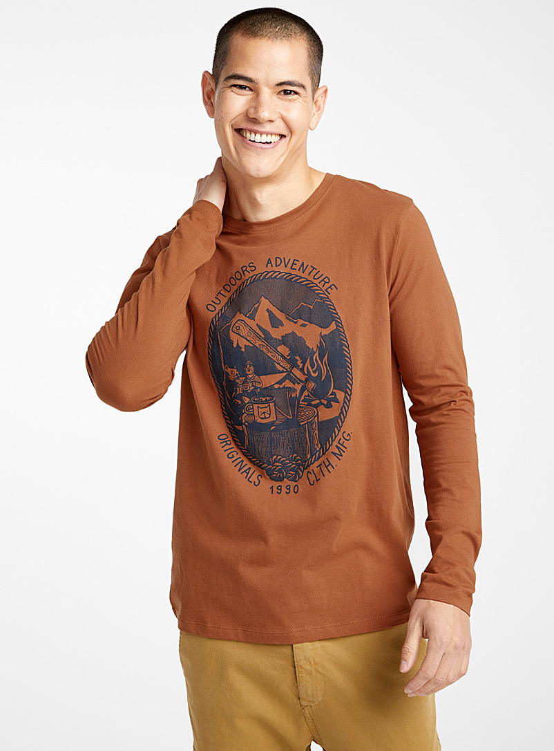 Great Outdoor T-shirt - Prints - Brown