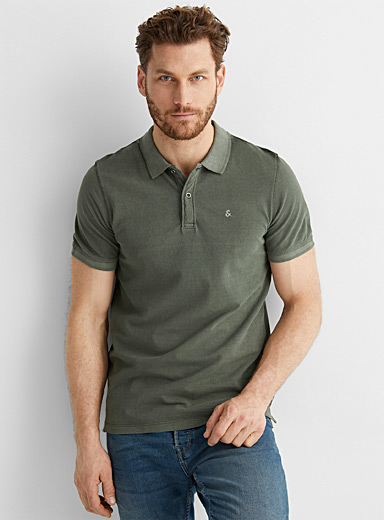 Faded accent polo