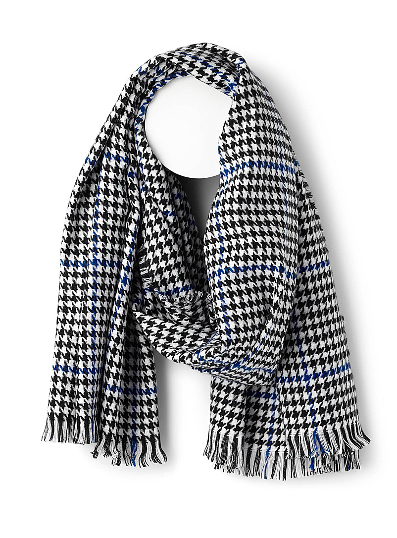 houndstooth-check-scarf