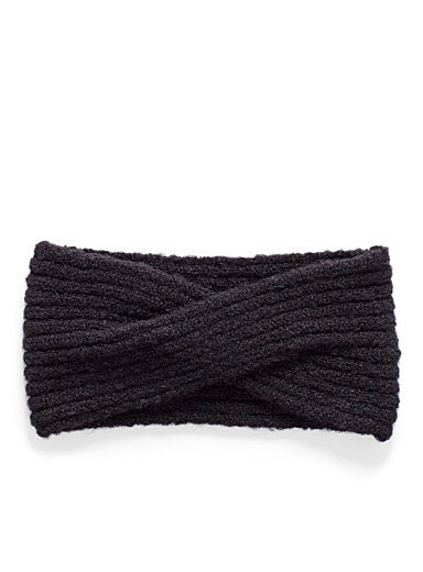 Twisted ribbed headband
