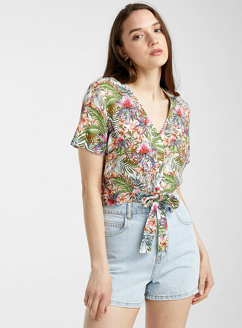Vero Moda Patterned White Eco-friendly viscose patterned shirt for women