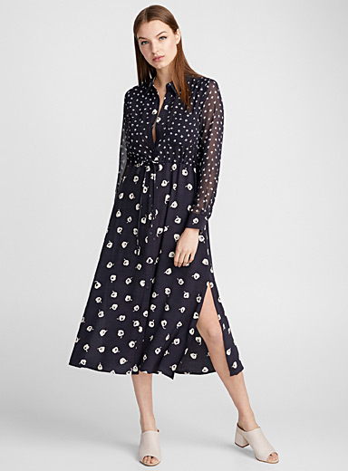 Adelise floral duo fluid dress
