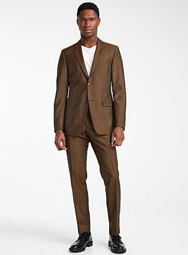 Copper wool and mohair suit <br>Slim fit