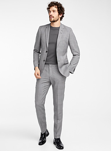 Etched check suit  Slim fit