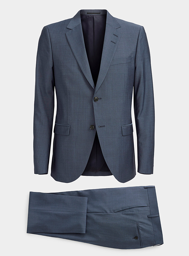 Tiger of Sweden Blue Steel blue chambray Jamonte suit  Slim fit for men