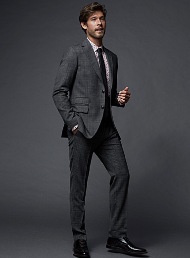 Ash plaid Barro suit <br>Slim fit