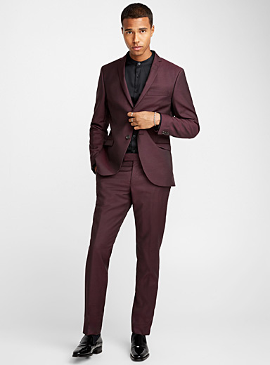 Jil burgundy suit <br>Slim fit