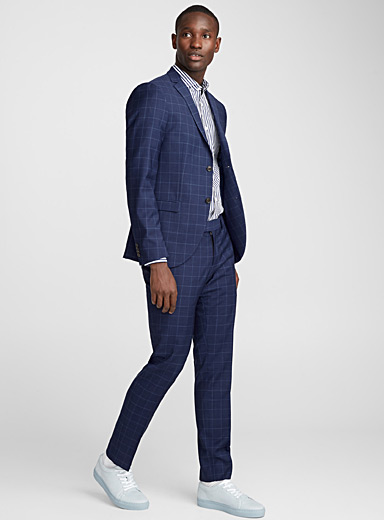 Jill tone-on-tone windowpane check suit  Slim fit