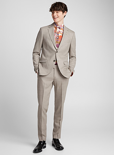 Jamonte natural piqué suit <br>Slim fit