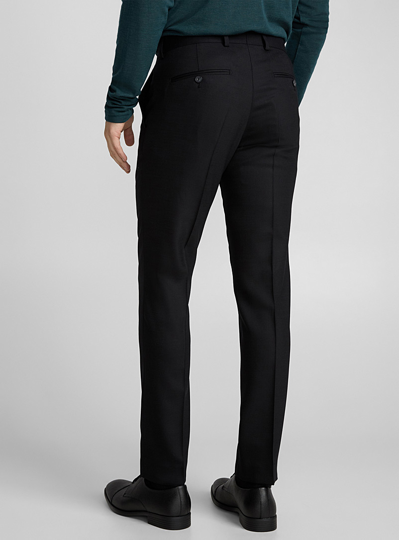 Tordon piqué pant  Slim fit - Suit Separates - Black