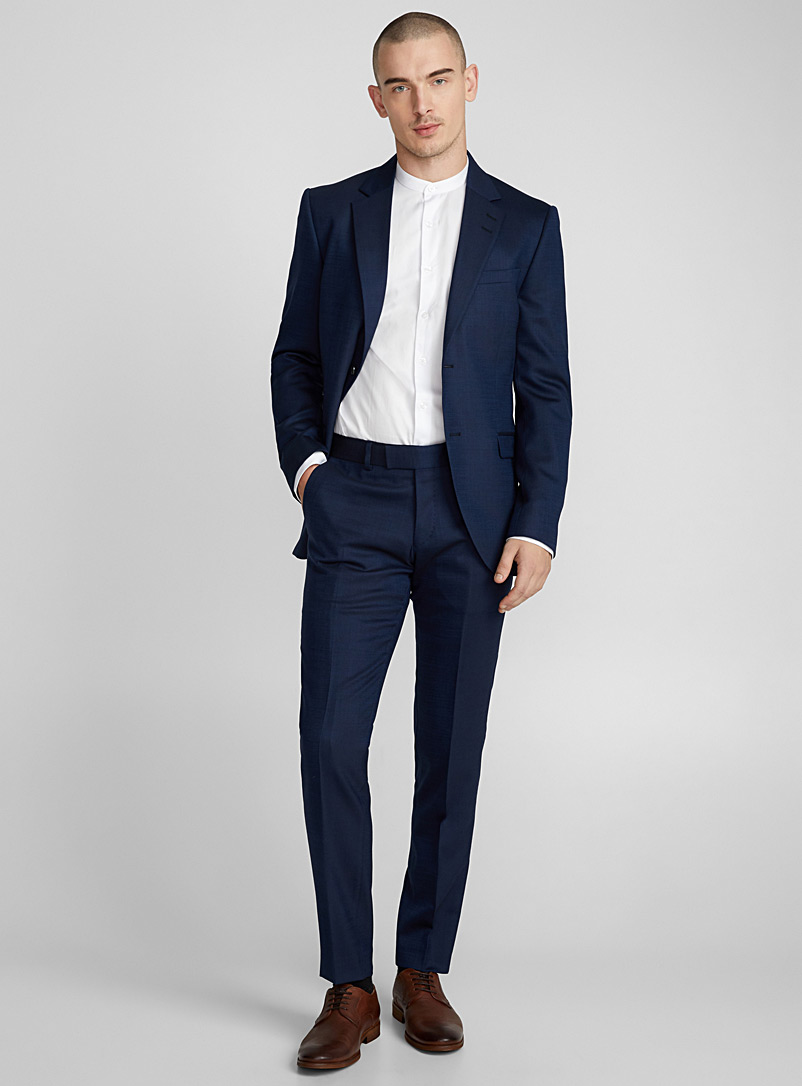 Tordon piqué pant  Slim fit - Suit Separates - Blue