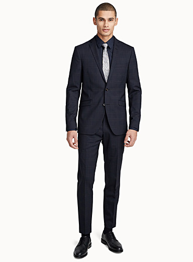 Gekko windowpane check suit  Slim fit