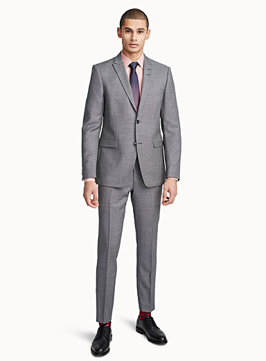 Salt-and-pepper Atwood suit  Slim fit
