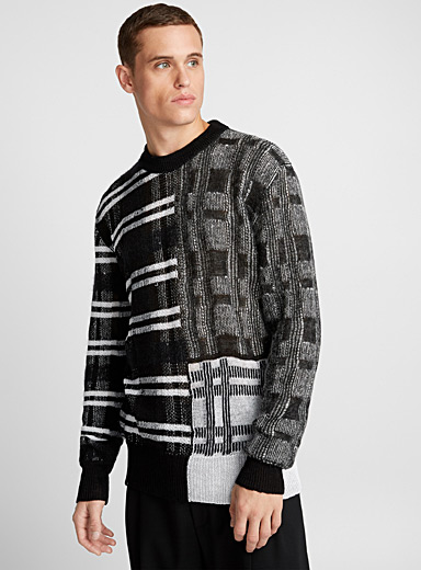 Le pull patchwork multitexture