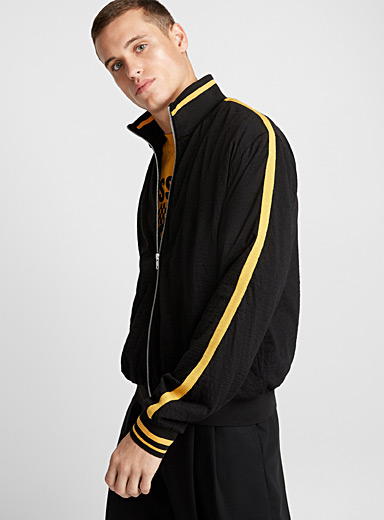 Yellow accents athletic jacket
