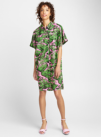 Wave shirtdress