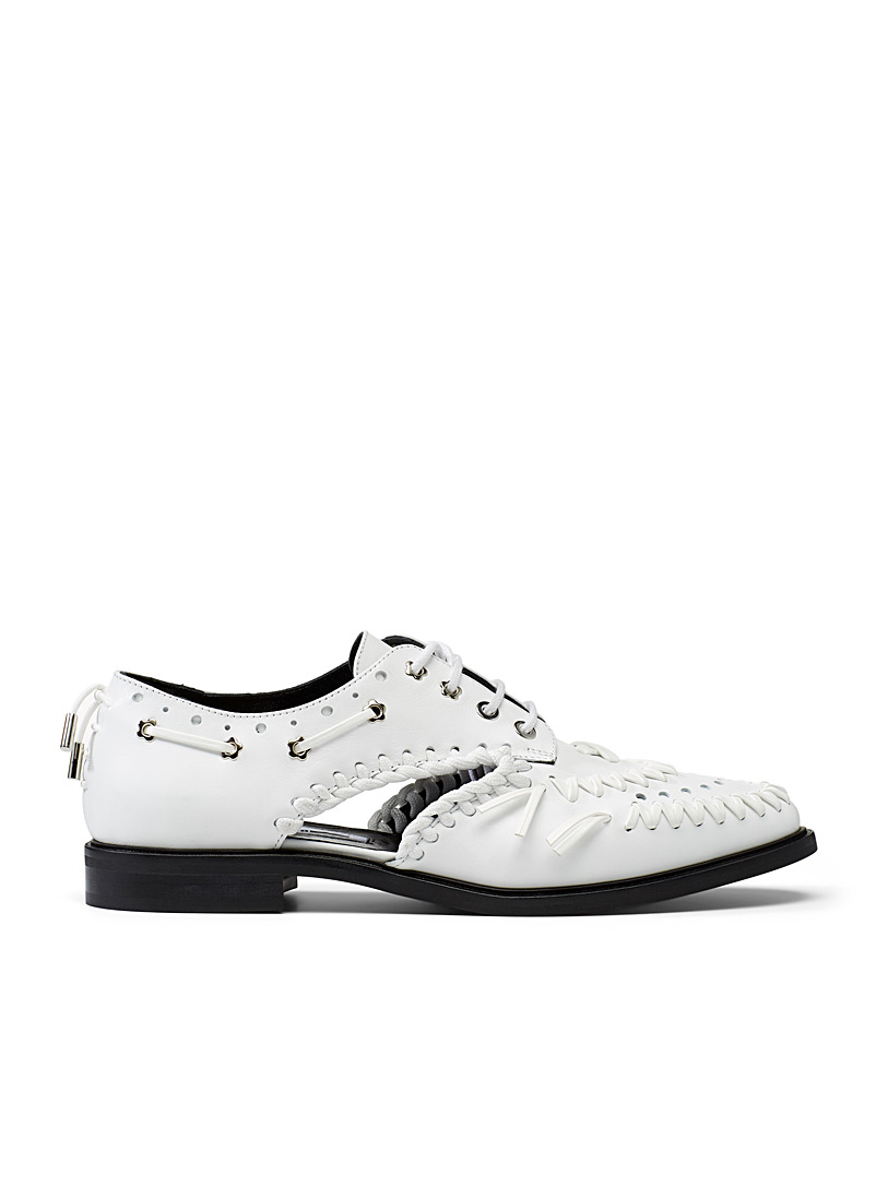 McQ-Alexander McQueen White Derby Implode shoes for women