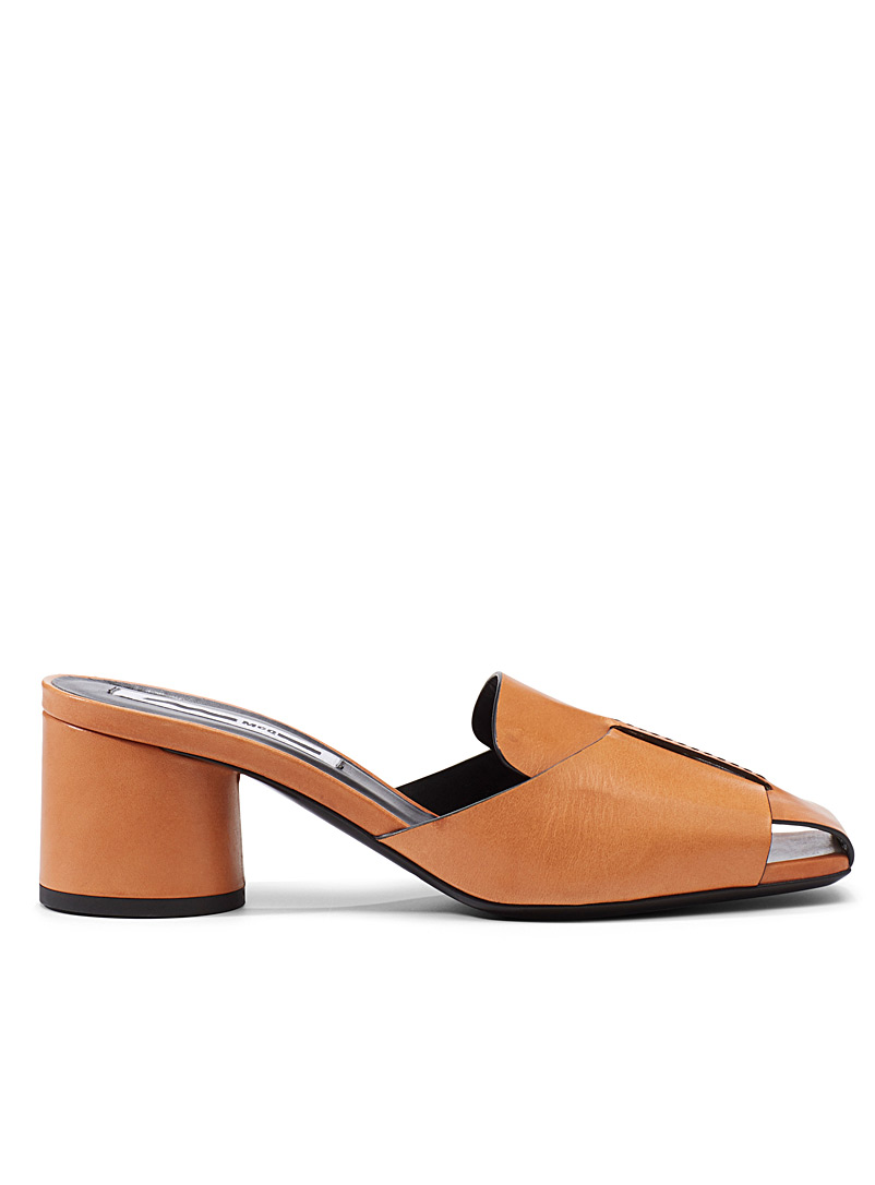 McQ-Alexander McQueen Medium Yellow Strength heeled mules for women
