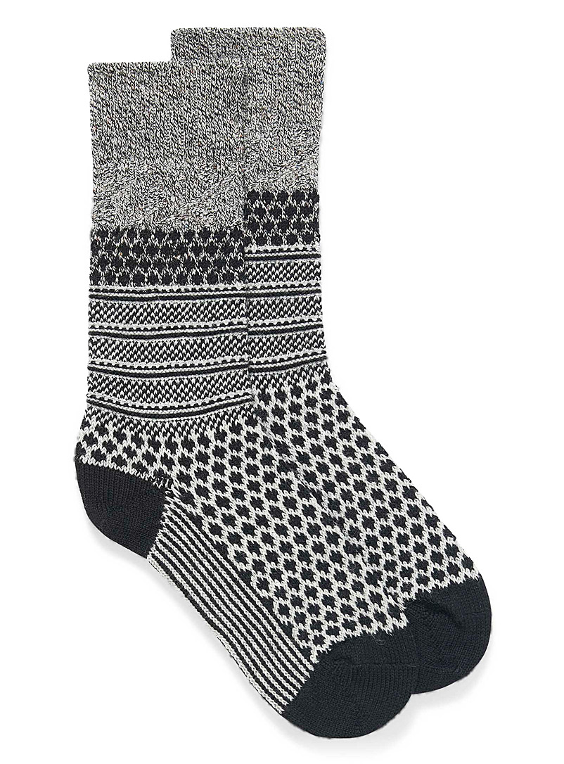 Cable Popcorn knit socks