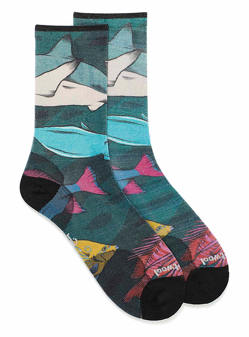 Marine life socks - Casual socks - Patterned Green
