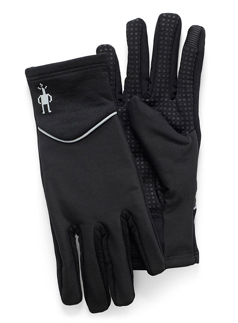 Smartwool Black Polar fleece training gloves for women