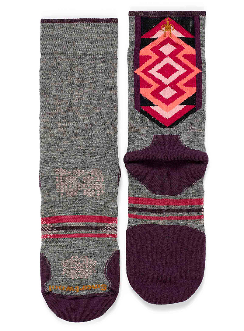 Smartwool Grey Graphic diamond thermal socks for women