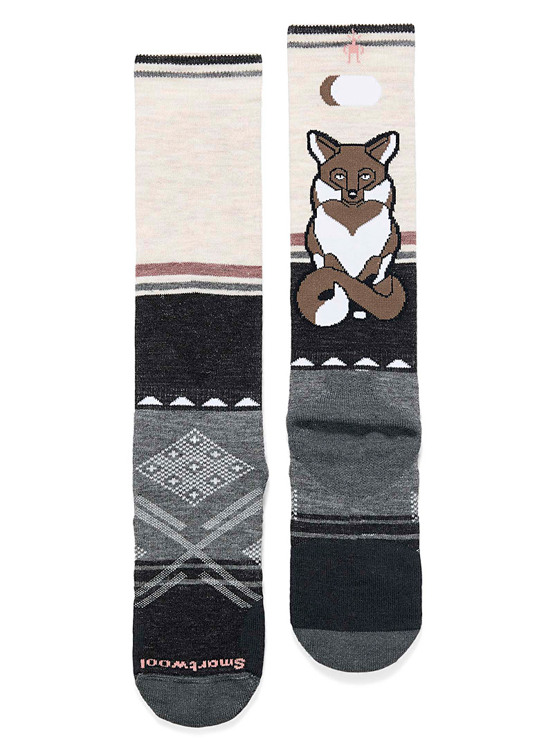 Smartwool Patterned Grey Fox thermal socks for women